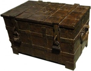 An old iron chest
