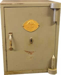 An antique Chubb safe